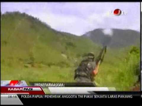 Video Amatir Baku Tembak TNI Vs Sipil Bersenjata Di Papua