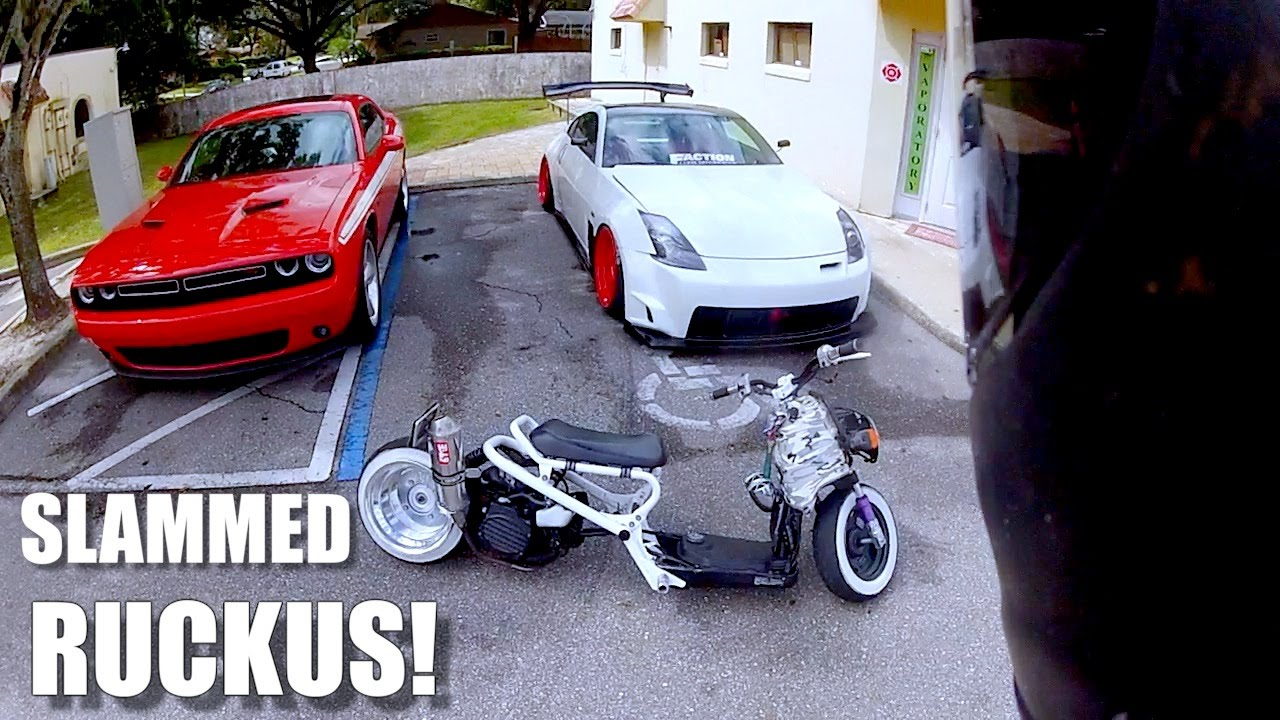 Riding A Slammed Honda Ruckus - YouTube