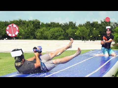 Thumbnail: Nerf Slip and Slide Battle | Dude Perfect