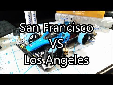 【ミニ四駆】Tamiya Mini 4WD Racing: San Francisco VS Los Angeles