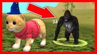 СИМУЛЯТОР Маленького КОТЕНКА #16 ТРИ КОТА охотились на диких кошек тигра, ягуара, кабана и горилу