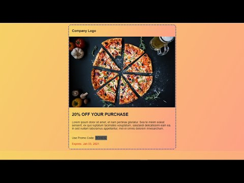 Creating Coupon Code For Restaurant Website Using Only Html Css