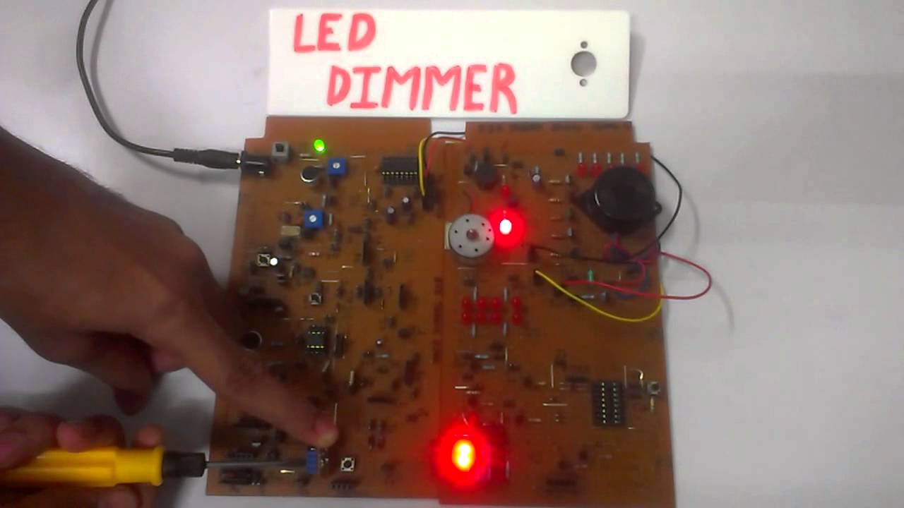 Led Dimmer Circuit Using 555 Timer
