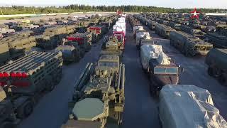 Движение военной техники из Алабино в Москву для участия в Параде Победы: кадры с коптера