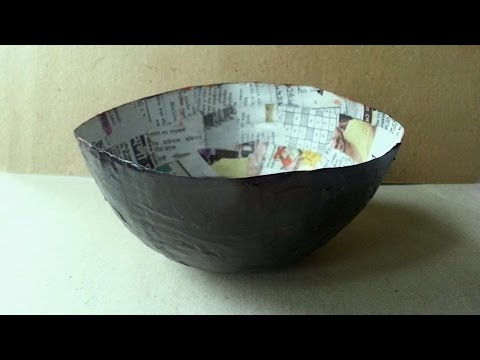How To Make A Balloon Mod Podge Paper Bowl - DIY Crafts Tutorial - Guidecentral