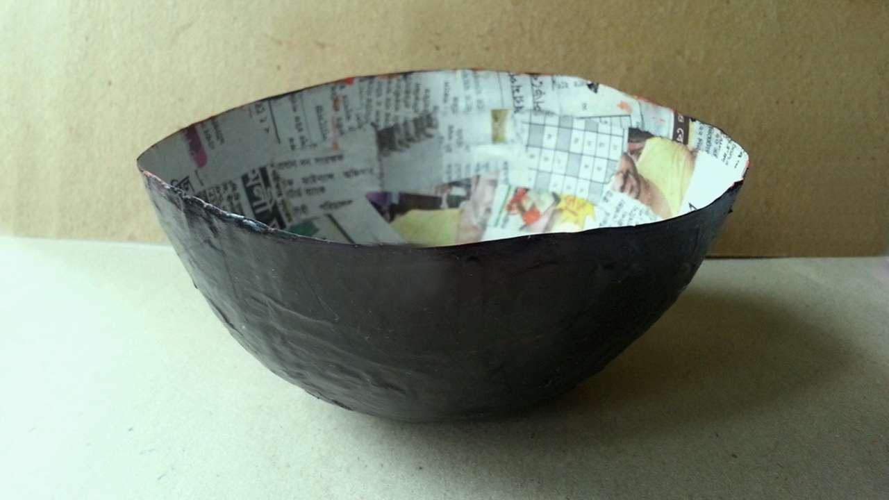 How to make a balloon mod podge paper bowl diy crafts for Diy paper bowl