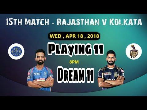 RR vs KKR 15th IPL T20 Match Dream 11 Team & CricMoney Team||Playing 11 (Rajasthan vs Kolkata)