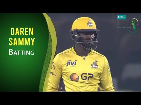 PSL 2017 Final Match: Quetta Gladiators vs. Peshawar Zalmi - Daren Sammy Batting