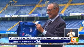 Gianfranco Zola returns to Chelsea as Maruizio Sarri's assistant