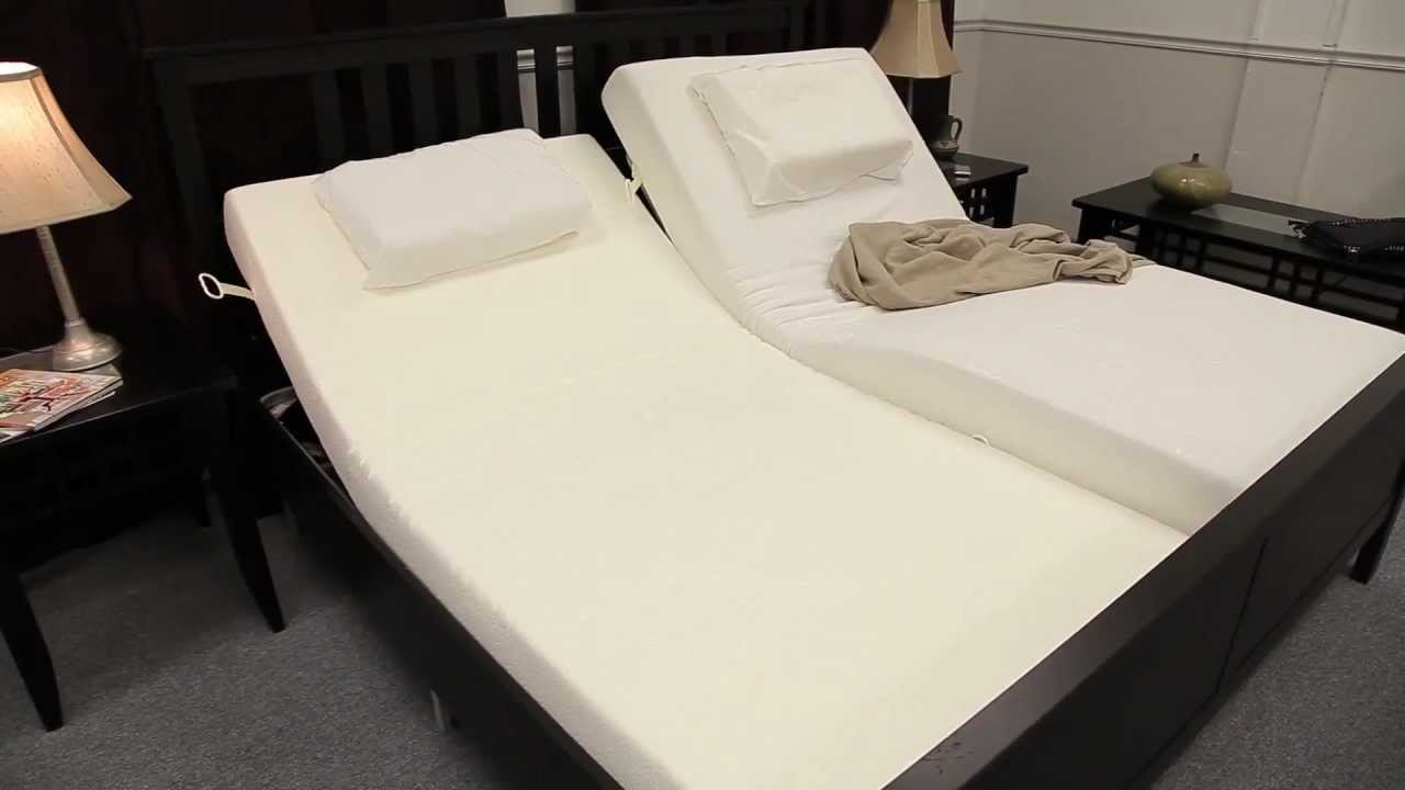 Adjustable Bed Frame Manual Adjust Youtube