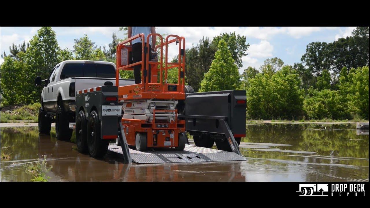 Scissor Lift Trailer : How to load a scissor lift on trailer drop deck depot