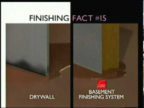 Owens Corning Basement Insulation basement wall panels vs drywall installation - youtube