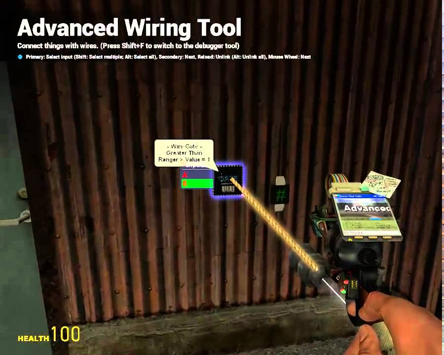 GMod Wiremod Tutorial - Security System - Wiremod HUD Indicator