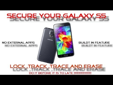 Samsung Galaxy S5- Track your phone if LOST or STOLEN -Find my Mobile