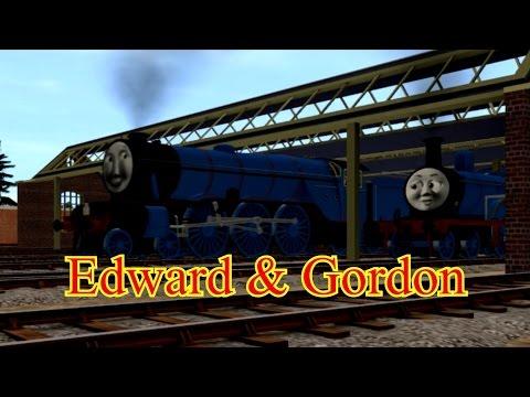 Rails of the North Western Railway - Three Railway Engines - Edward & Gordon