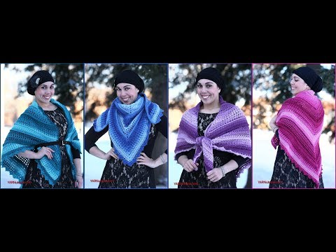 Crochet Tutorial: Wrapped in Jewels Shawl