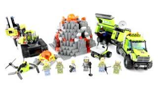 UNBOXING LEGO 60124 City Volcano Exploration Base Kids Toys