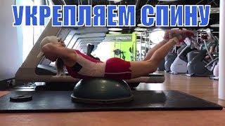 Обратное скручивание на полусфере. Тренировка длинных мышц спины