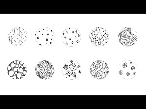 Basic Doodles | Easy Zentangles | Basic Mandala | DIY Paper Crafts