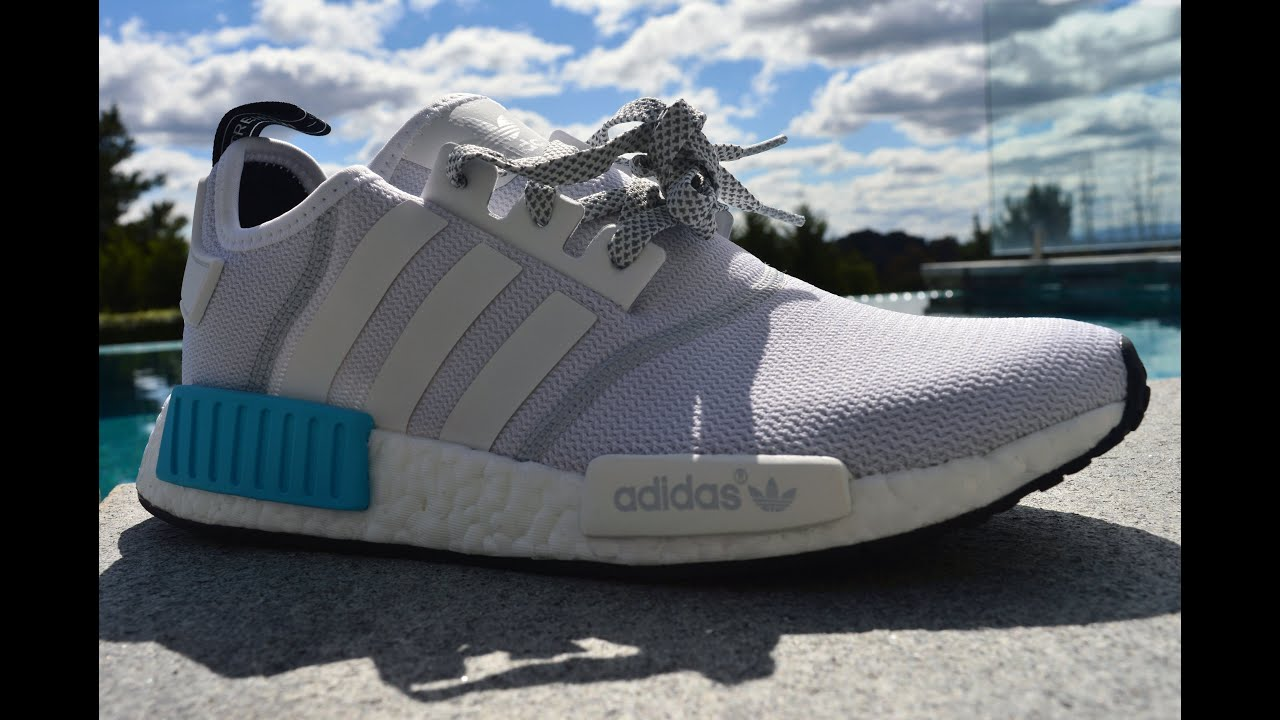 9a743132f9b9 Adidas NMD Runner Unboxing    White Blue Black - YouTube