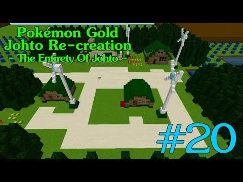 Pokémon HeartGold's Johto region recreated in Minecraft