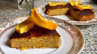 Полезный тыквенно-апельсиновый пирог!