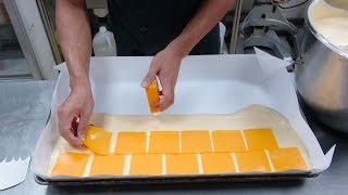 How Giant Jiggly Cheesecake Are Made | Dirty Chocolate Jiggly Cake Cutting