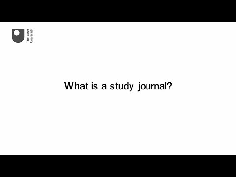 What is a study journal?