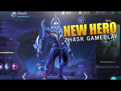 NEW Hero Zhask Gameplay and Best Build! Mobile Legends