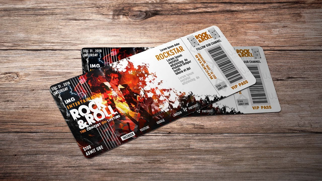 how to make an event ticket adobe photoshop cc tutorial youtube
