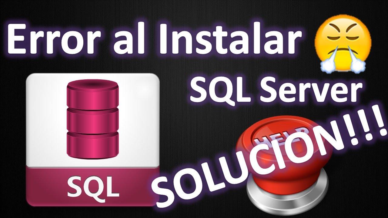 ▶ ERROR AL INSTALAR SQL SERVER - SQL SERVER SETUP MEDIA DOES NOT SUPPORT  THE LANGUAGE OF THE OS