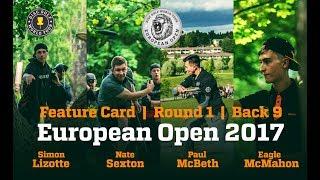 European Open 2017 Feature Card Round 1 Back 9