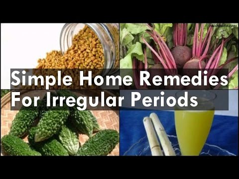 Home Remedies For Irregular Periods Youtube