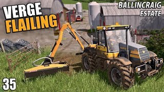VERGE FLAILING - Ballincraig Estate | Farming Simulator 17 - Episode 35