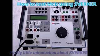 How to test Mcb using SVERKER  #MCB