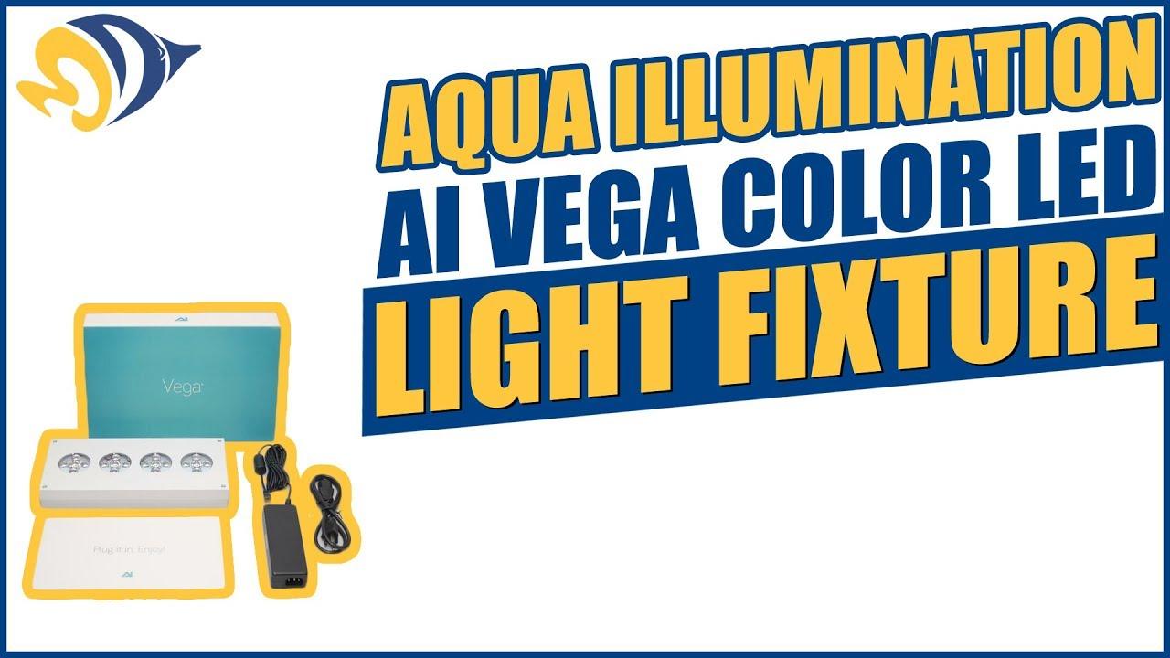 aqua illumination ai vega color led light fixture product demo youtube