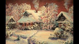 🔝 ХуДоЖнИкИ | 1 часть | Живопись маслом | Зимний деревенский пейзаж | Александр Григорьев
