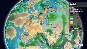 Kuukausiennuste sateista 15.1.2019
