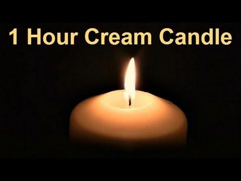 ❀ 1 Hour - Cream Candle (no Music)