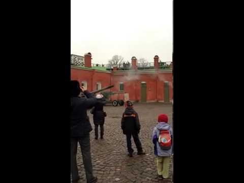 Peter and Paul Fortress: cannon shot