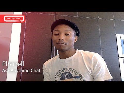 Pharrell Williams Interactive Chat w/ Romeo Saturday Night Online  - AskAnythingChat