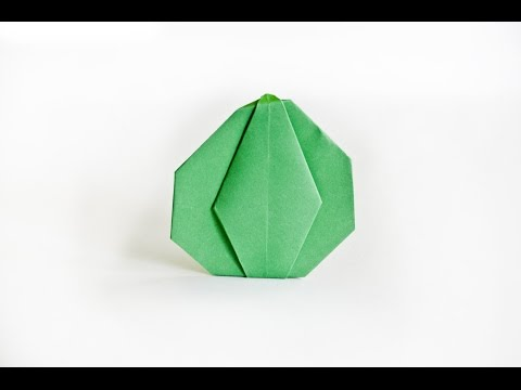 How to make a paper Pumpkin   origami Vegetables    Easy origami