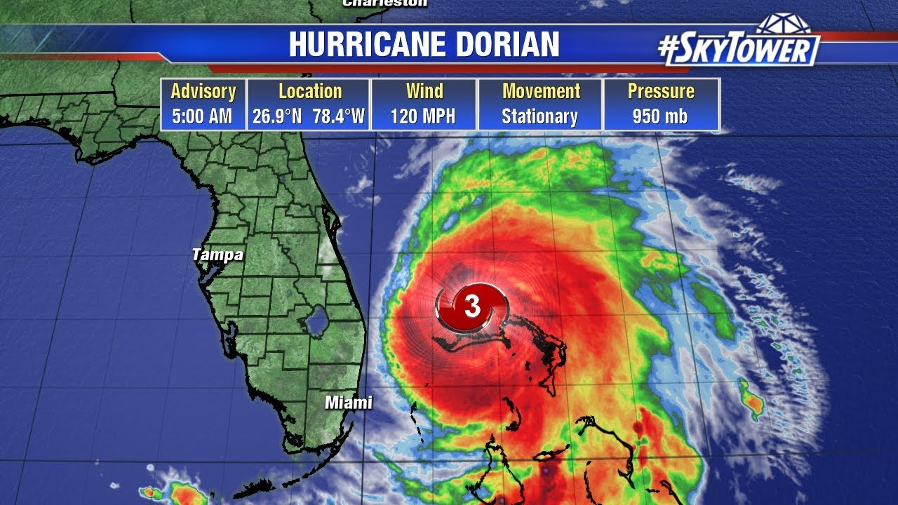 Tropical weather forecast & Dorian morning update: Sept  3, 2019