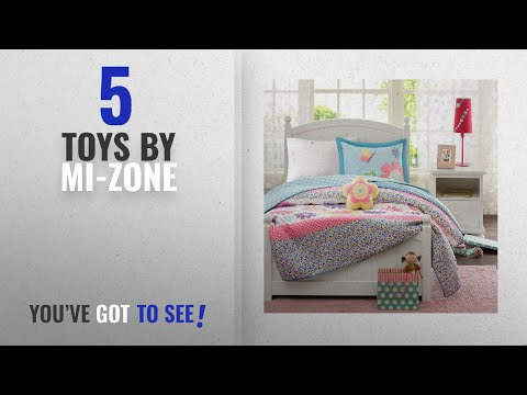 Top 10 Mi-Zone Toys [2018]: Mizone Kids Crazy Daisy 4 Piece Coverlet Set, Multicolor, Full/Queen