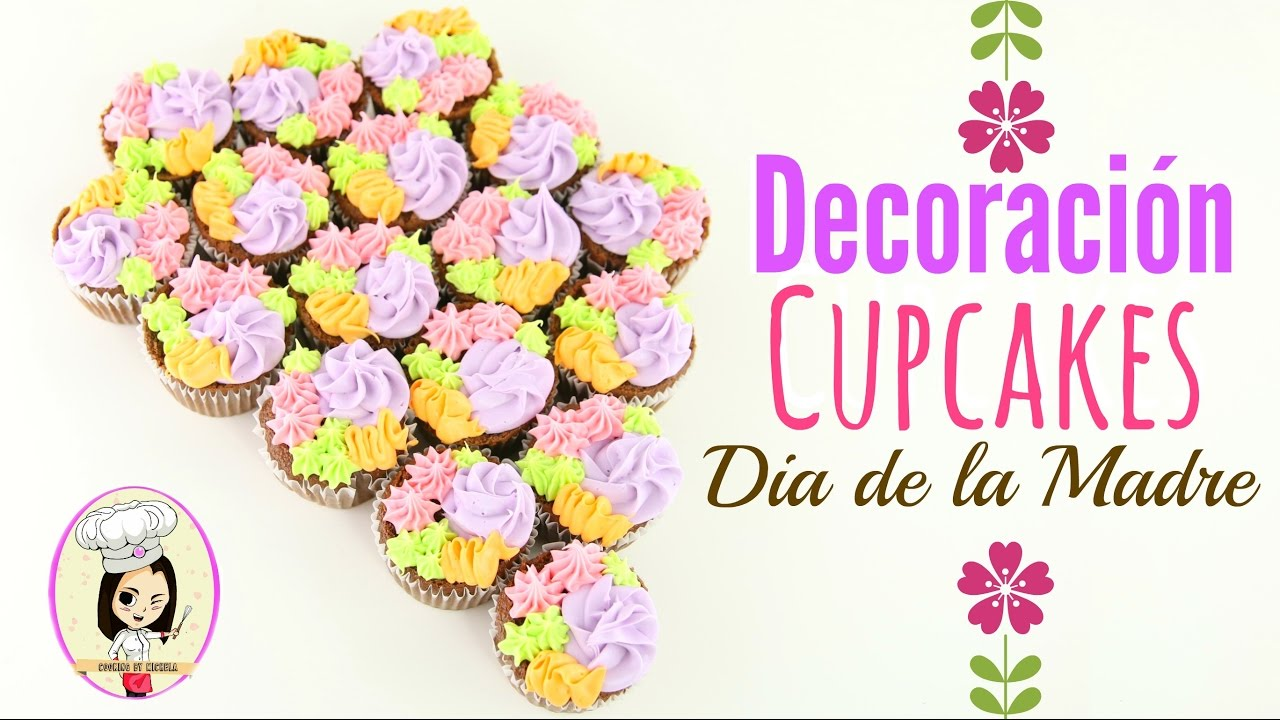 Decoracion de cupcakes dia de la madre cooking by for Decoracion de puertas dia de la madre