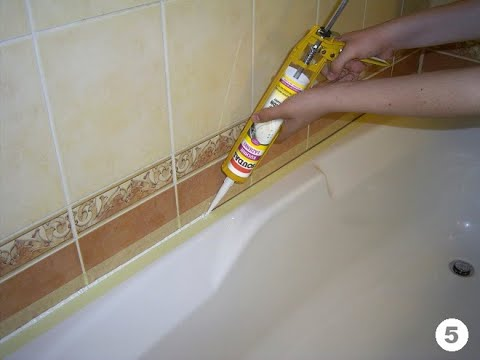 Вопрос: Как загерметизировать швы в ванной силиконом?