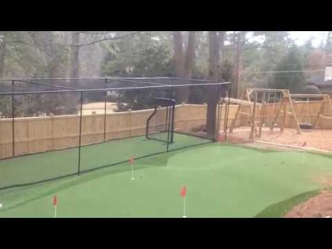 Batting Cage Set Up FRAME AND NETTING 12x12x45 Ft. Best Baseball Batting  Cage   YouTube