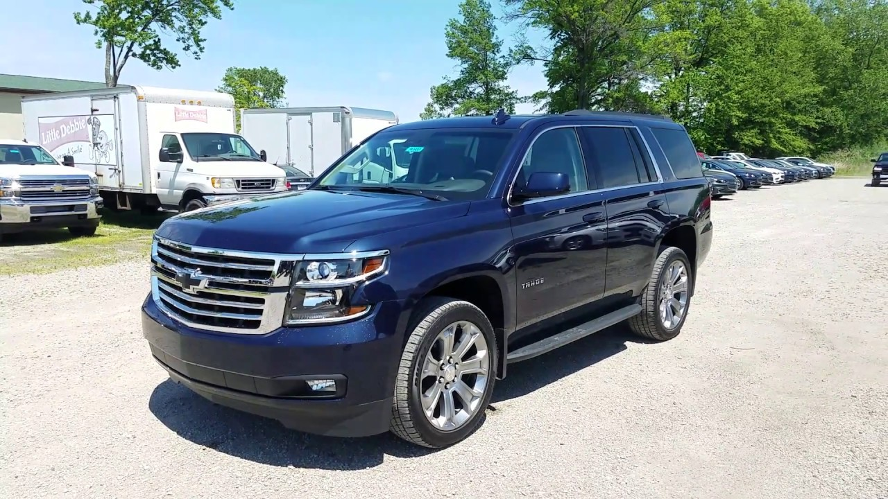 2017 Chevy Tahoe LT Intro - Blue Velvet Metallic - YouTube