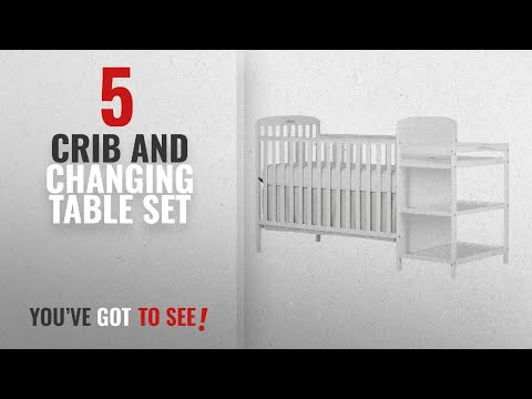 Top 10 Crib And Changing Table Set [2018]: Dream On Me, Anna 4 in 1 Full Size Crib And Changing