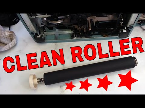 Typewriter Platen Cleaning How to Clean Feed and Bail Rollers Rejuvenate Remove Ink